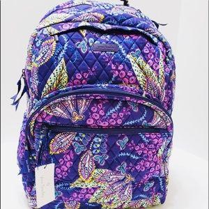 Vera Bradley large essential backpack batik leaves